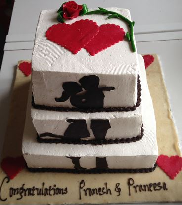 Picture of Chefs Wedding Cake Triple Decor 12lb