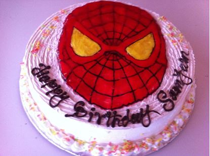 Picture of Chefs Spiderman White Forest Cake 2lb