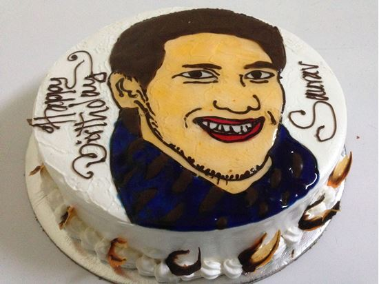 Picture of Chefs Face Topping White Forest Cake 2lb