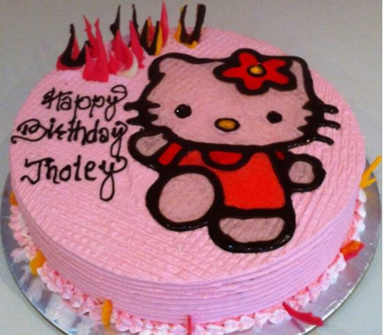 Picture of Chefs Hello Kitty Topping Strawberry Cake 2lb