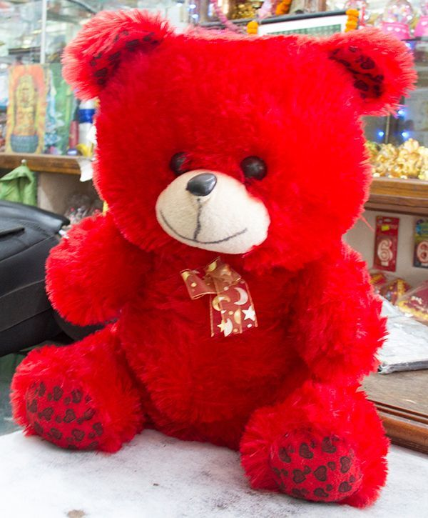 mid size red teddy bear  online gift 2 nepal   send gift