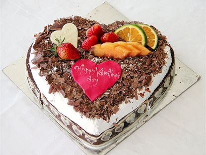 Heart Shaped Black Forest cake
