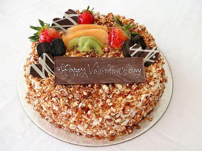 Romantic Lovers Nougatine Cake