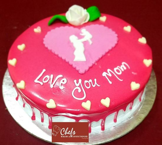 Picture of Chefs Bakery Mothers Day Special White Forest Cake