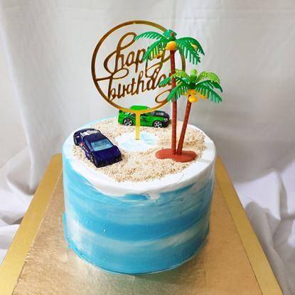Special Beach Theme Cake